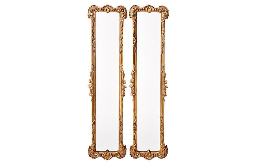 Ferrara Oversized Mirror Set, Gold Leaf