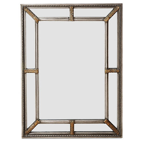 """Sion 36""""x48"""" Oversize Mirror, Silver"""