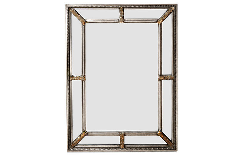 Sion Oversize Mirror, Silver