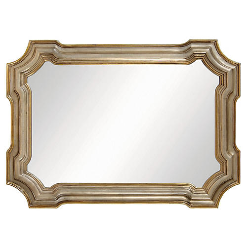 "Conthey 43""x31"" Wall Mirror, Silver"