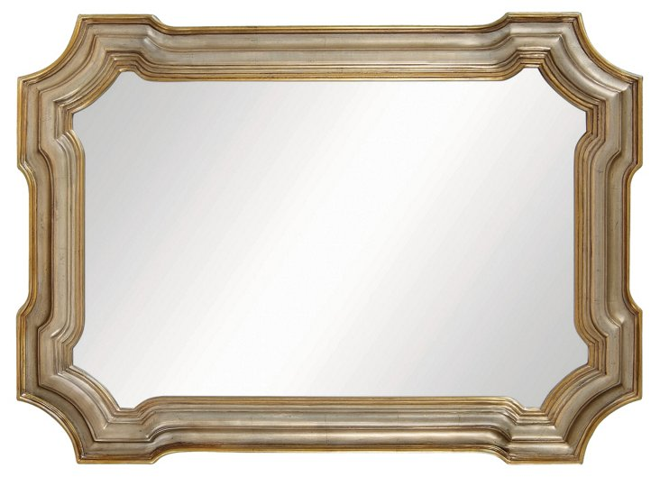 Conthey Wall Mirror, Antiqued Silver