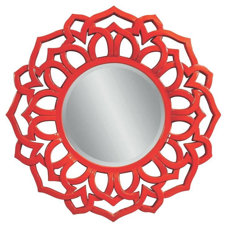 Cavite Wall Mirror, Red