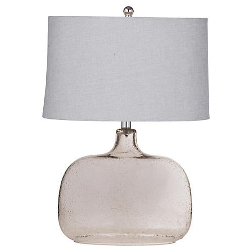 Glass Table Lamp, Bronze
