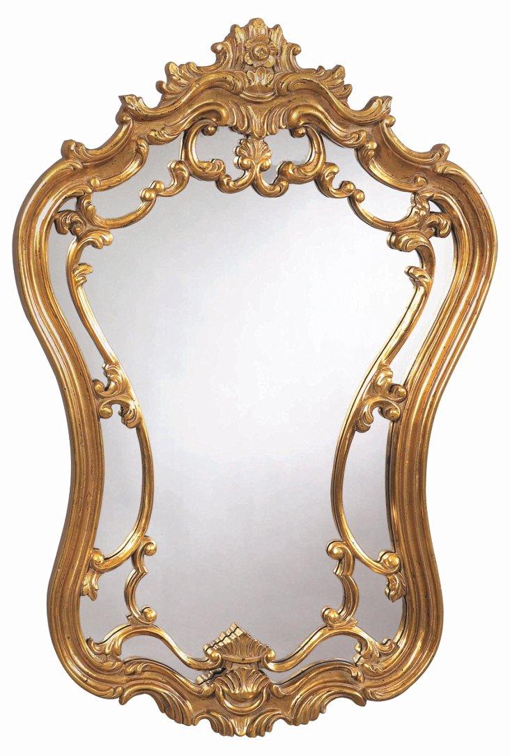 Hermosa Wall Mirror, Gold Leaf
