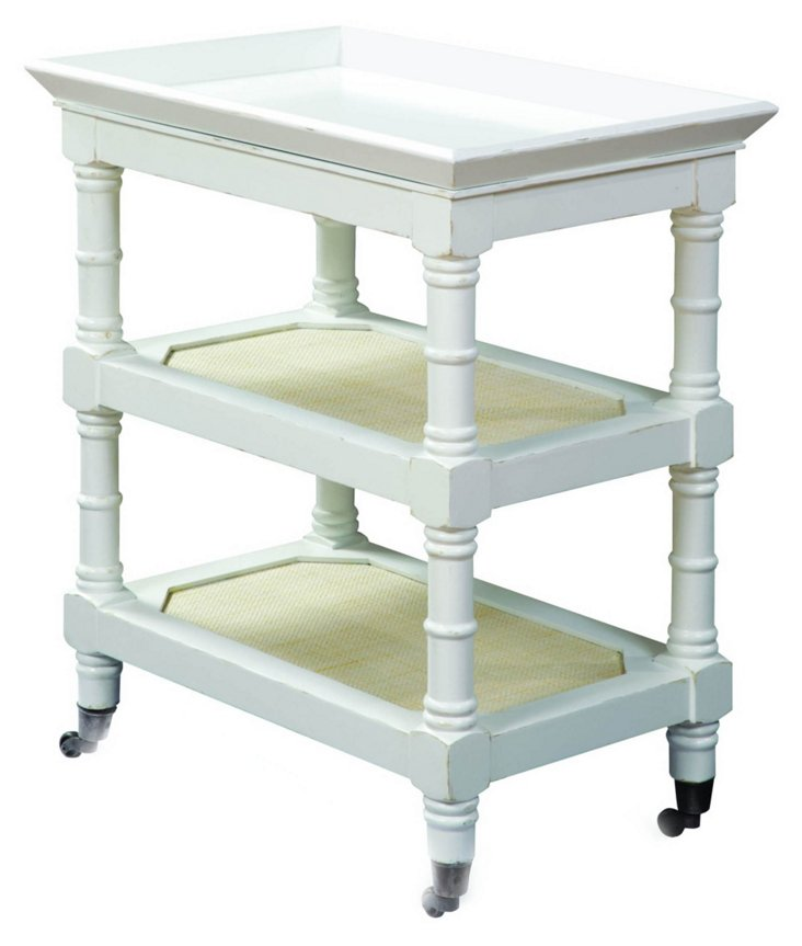 Thompson Accent Tray Table, White