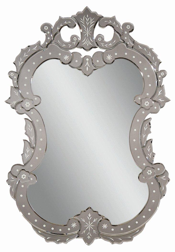 Cecilia Wall Mirror, Silver