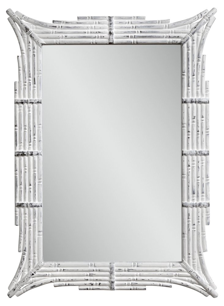 Dyer Wall Mirror, White