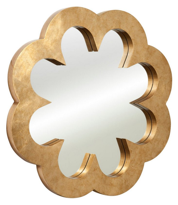 Cicely Wall Mirror, Gold