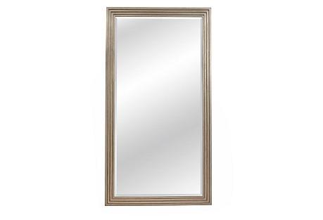 Step Floor Mirror, Silver