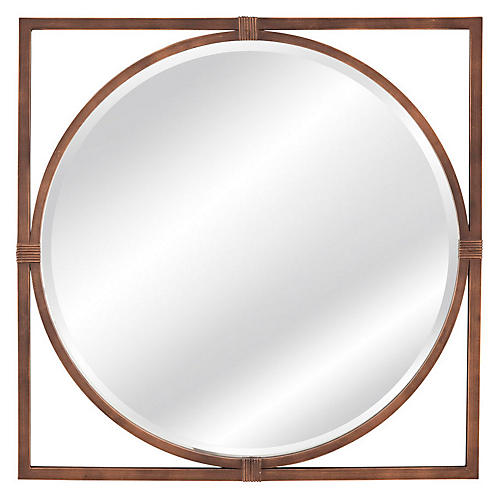 "Sadie 36"" Wall Mirror, Bronze"