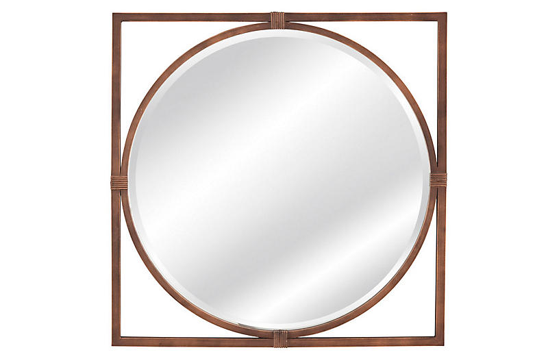 Sadie Wall Mirror, Bronze
