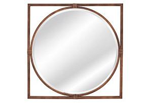 Sadie Wall Mirror, Bronze
