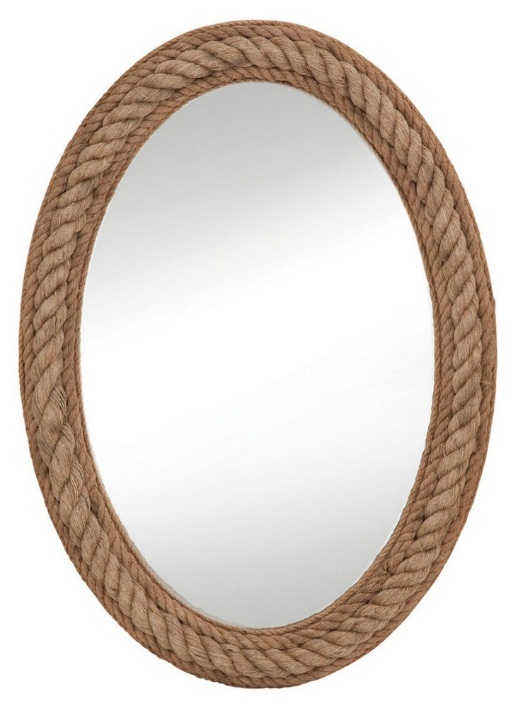 Rope Wall Mirror, Natural