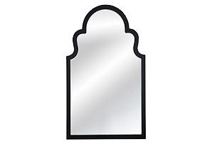 Elberta Wall Mirror, Black