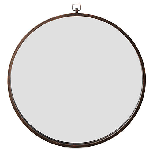 "Quinn 36"" Wall Mirror, Antiqued Bronze"