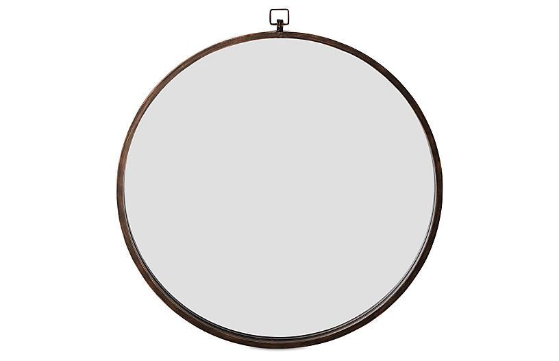 Quinn Wall Mirror, Antiqued Bronze