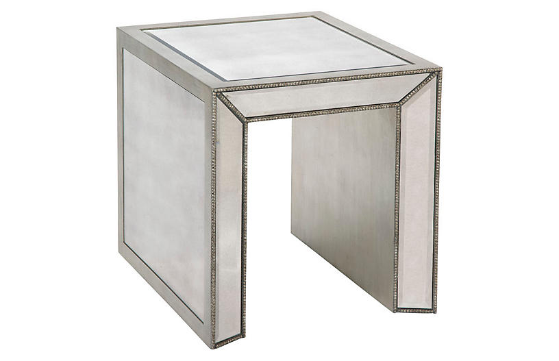 Madison Side Table, Mirrored