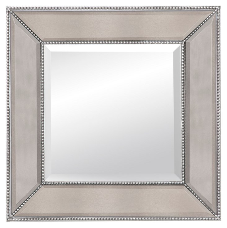Visby Wall Mirror, Silver
