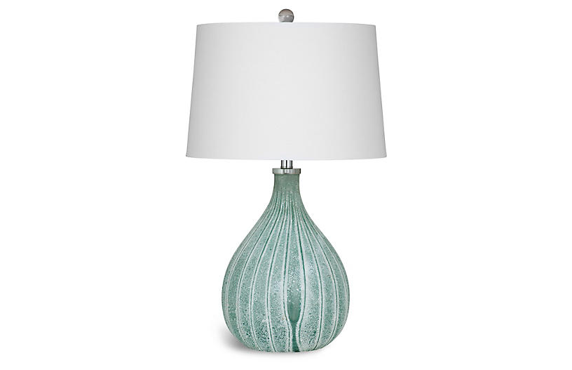 Devin Table Lamp, Blue