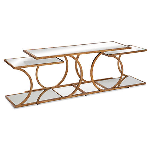 Julianne Nesting Coffee Table, Gold