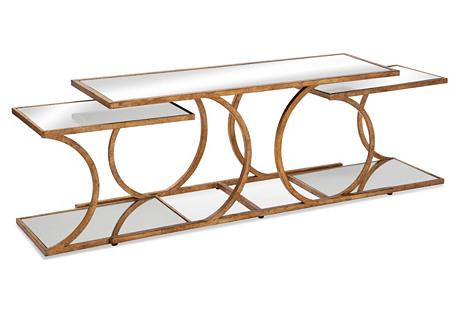 Julianne Gold Nesting Tables, Set of 3