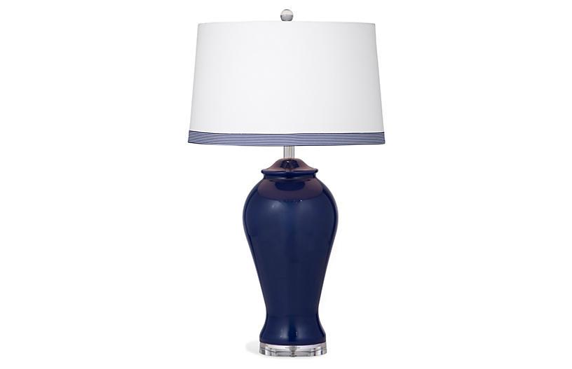 Harriet Table Lamp, Navy