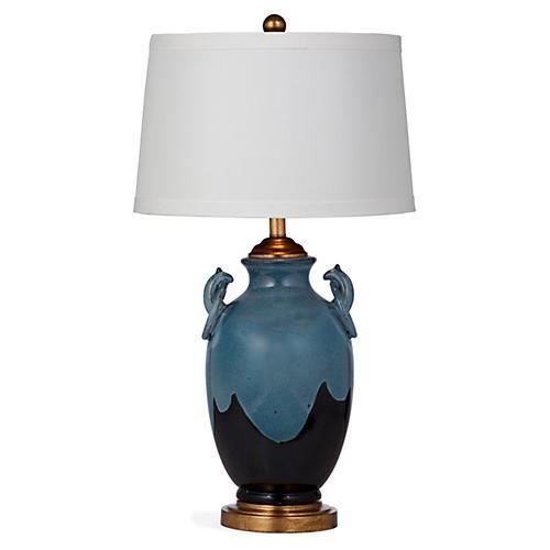 Tess Table Lamp, Dark Blue