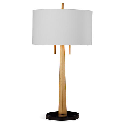 Taylor Table Lamp, Gold Leaf
