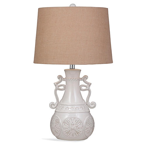 Catherine Table Lamp, Off-White