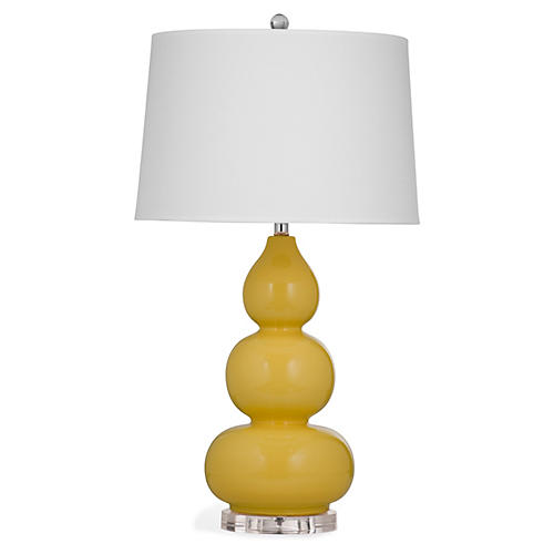 Caroline Table Lamp, Yellow