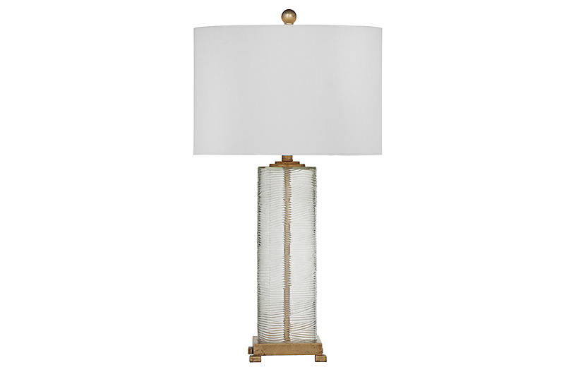 Lucy Table Lamp, Gold Leaf