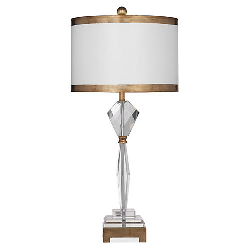 Violet Table Lamp, Gold