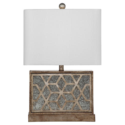 Leila Table Lamp, Antiqued Gold