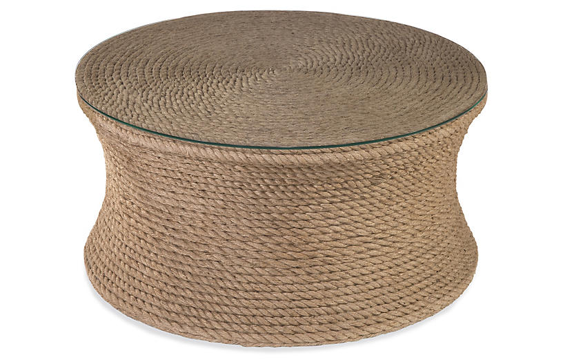 Olivia Woven Rope Coffee Table, Natural