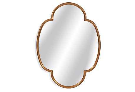 Clover Mirror, Gold