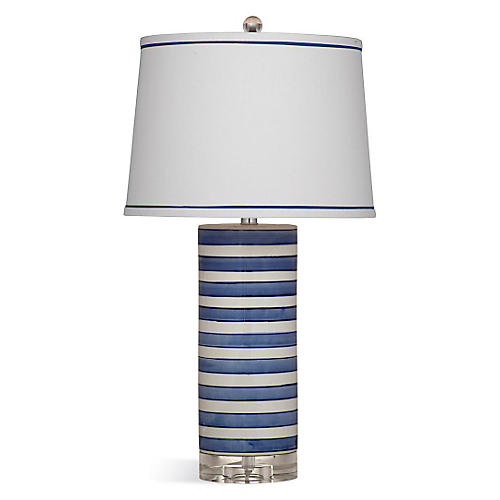 Regatta Stripe Table Lamp, Blue/White