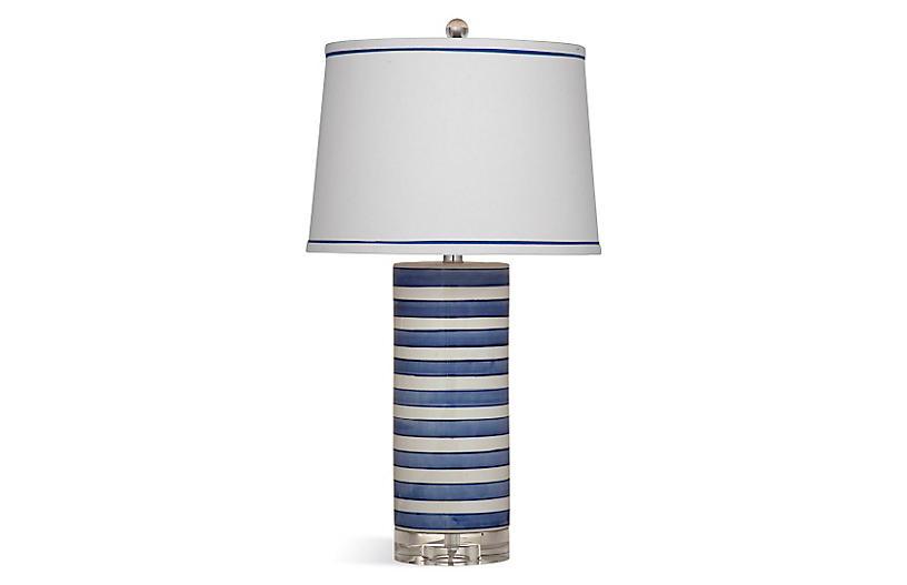Regatta Stripe Table Lamp, Blue/White