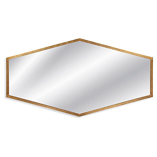 "Margret 56""x30"" Wall Mirror, Gold Leaf"