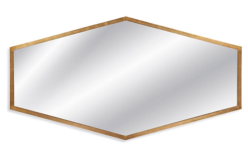 Margret Wall Mirror, Gold Leaf