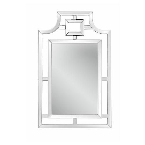 "Nancy 30""x46"" Wall Mirror, Mirrored"