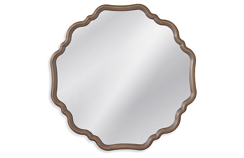 Holly Wall Mirror, Gray