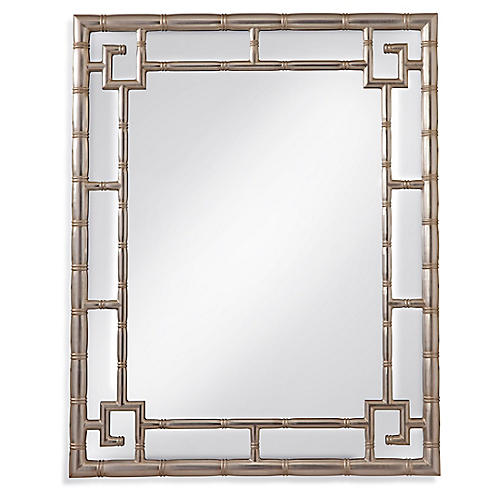 Cora Wall Mirror, Silver Leaf