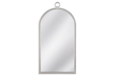 Felicity Wall Mirror, Silver Leaf