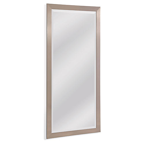 Stainless Floor Mirror, Chrome