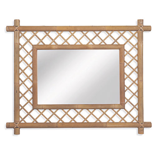 "Antibes 40""x59"" Oversize Wall Mirror, Natural"
