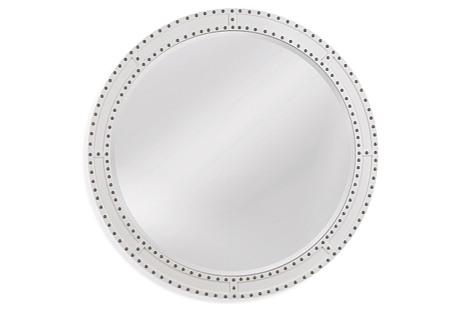 Camellia Wall Mirror, White