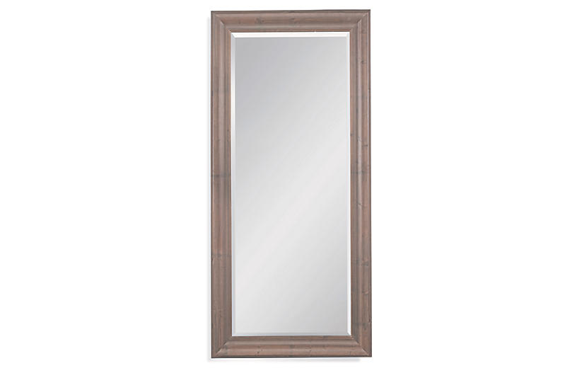 Hitchcock Floor Mirror, Brown