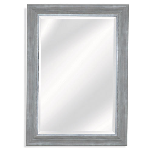 "Lail 31""x43"" Wall Mirror, Gray"