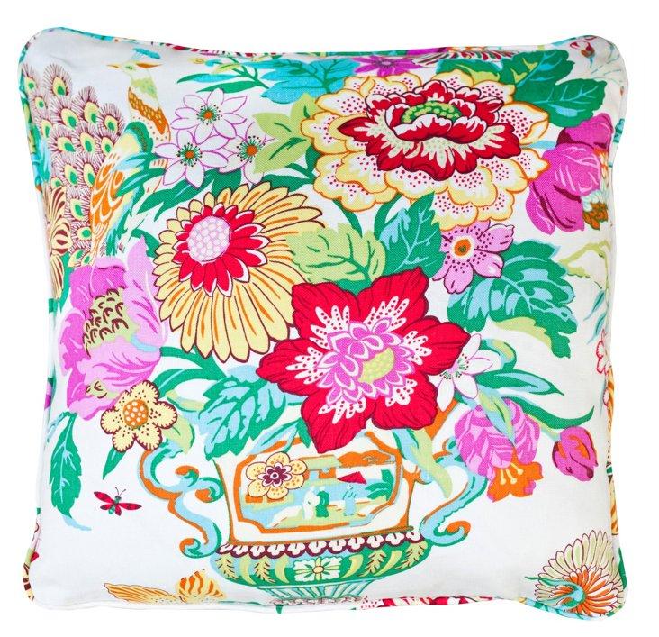 Bouquet 22x22 Linen Pillow, Multi