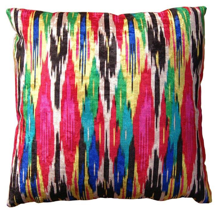 Ikat Drip 22x22 Pillow, Multi